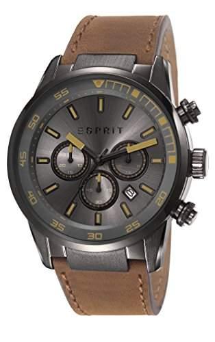 Esprit Herren-Armbanduhr XL Alaric Chronograph Quarz Leder ES108021003