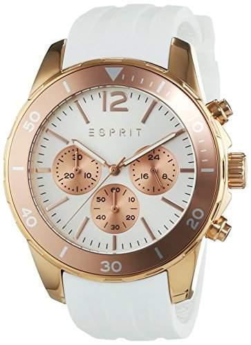 Esprit Damen-Armbanduhr Haylee Chronograph Quarz Silikon ES108262003