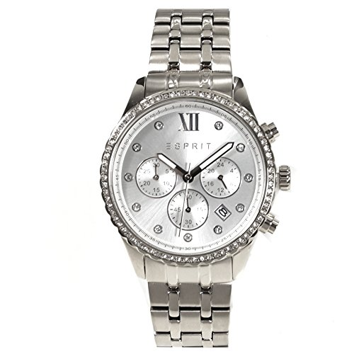 Esprit ES108732001 Chronograph Uhr Edelstahl Edelstahl5 Bar Analog Chrono Datum silber