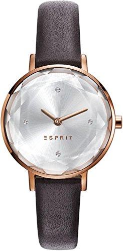 Esprit ES109312003 ESPRIT TP10931 BROWN Uhr Lederarmband vergoldet 3 bar Analog braun