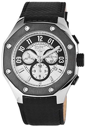 Esprit Chronograph Echtleder 47 mm Schwarz EL101291F02