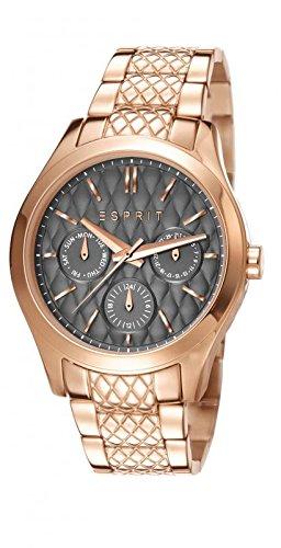 ESPRIT Damen Armbanduhr Analog grau Zifferblatt