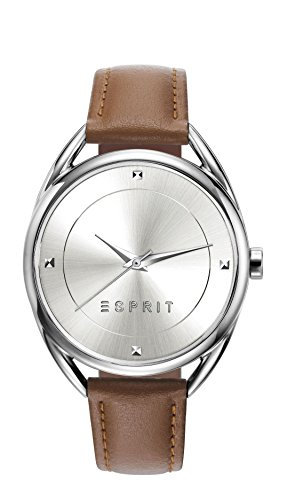 Esprit Damen Armbanduhr TP90655 Light Brown Analog Quarz Leder ES906552002