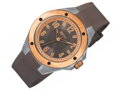 ESPRIT Uhr LUCENT ROSEGOLD BROWN ES900662003 Armbanduhr 4238