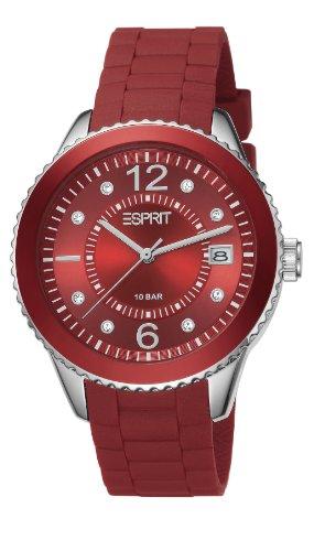 Esprit ES105342020 marin 68 red Uhr Kautschuk Edelstahl 100m Analog Datum rot