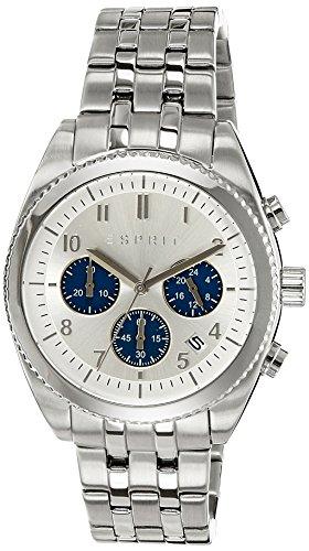 Esprit ES107581006 Kai Chrono Silver Blue Herrenuhr Chronograph