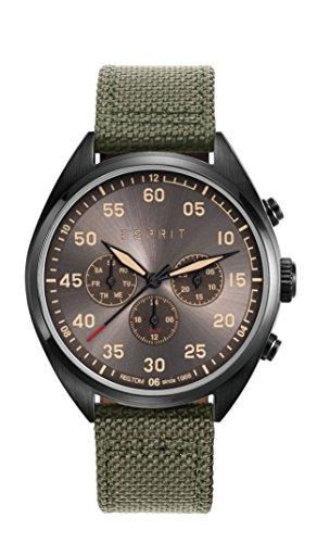 Esprit Herren Armbanduhr TP10879 Military Green Analog Quarz Nylon ES108791003