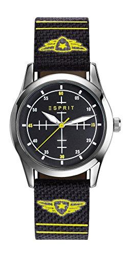 Esprit Jungen Armbanduhr TP90651 BLACK Analog Quarz Nylon ES906514001