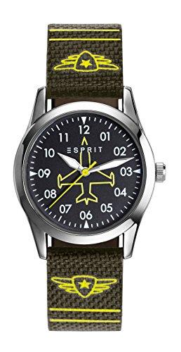 Esprit Jungen Armbanduhr TP90651 GREEN Analog Quarz Nylon ES906514002