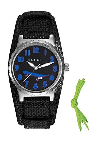 Esprit Jungen Armbanduhr TP90653 BLACK Analog Quarz Nylon ES906534002