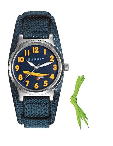 Esprit Jungen Armbanduhr TP90653 BLUE Analog Quarz Nylon ES906534003
