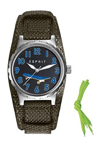 Esprit Jungen Armbanduhr TP90653 GREEN Analog Quarz Nylon ES906534001