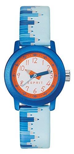 Esprit Kinder Armbanduhr Blau Leder ES106414036