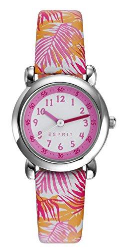 Esprit Maedchen Armbanduhr TP90649 ORANGE Analog Quarz Leder ES906494001