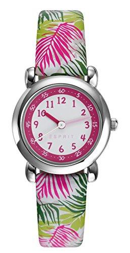 Esprit Maedchen Armbanduhr TP90649 PINK Analog Quarz Leder ES906494003