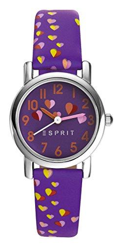 Esprit Maedchen Armbanduhr TP90652 PURPLE Analog Quarz Leder ES906524004