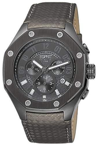 Esprit Collection Herren-Armbanduhr Kronos Chronograph Quarz Leder
