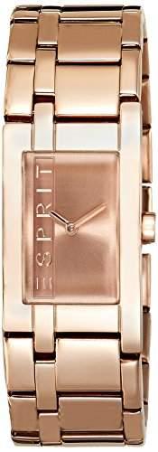 Esprit Damen-Armbanduhr LA Rosegold Houston Analog Quarz