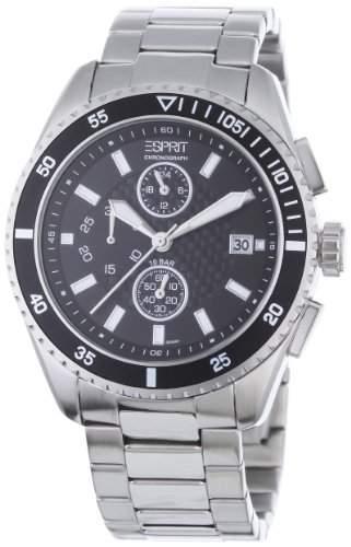 Esprit Herrenuhr velocity chrono silver black AES102491004