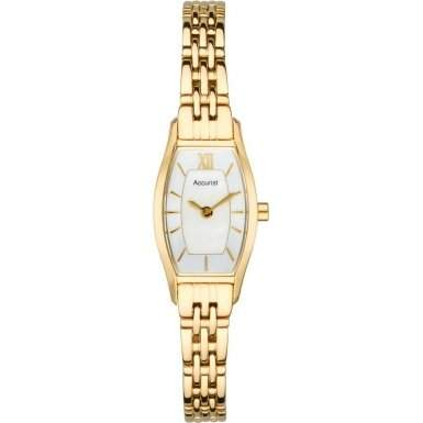 Accurist Damen-Armbanduhr Analog Edelstahl beschichtet gold LB1280PX