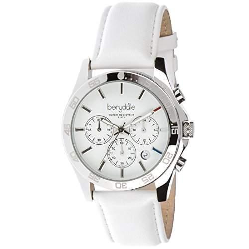 Berydale Damen-Armbanduhr mit Lederarmband, Chronograph mit Quarzwerk, BD700-1