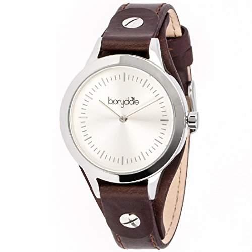 Berydale Damen Armbanduhr mit Lederband und Quarzwerk, BD703-1