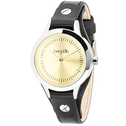 Berydale Damen Armbanduhr mit Lederband und Quarzwerk, BD703-2