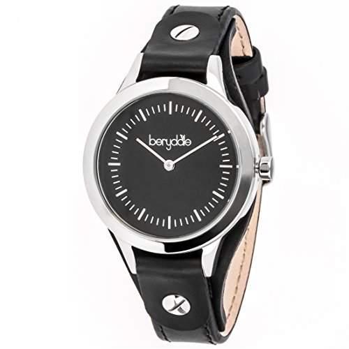 Berydale Damen Armbanduhr mit Lederband und Quarzwerk, BD703-3