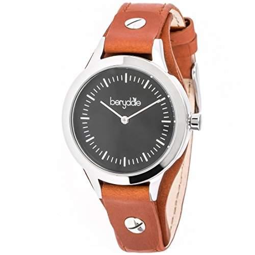 Berydale Damen Armbanduhr mit Lederband und Quarzwerk, BD703-4