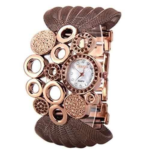 DEHANG Damen Klassisch Quarzuhr Diamanten Legierungsband Armbanduhr - Silber