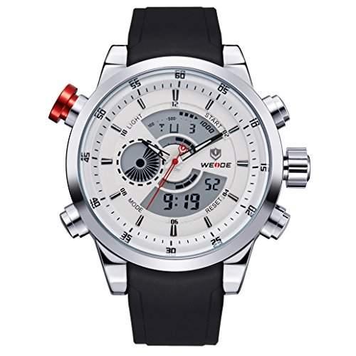 Herren Freizeit Sport Armbanduhr Quartz Digital LED Hintergrundbeleuchtung 30M wasserdicht WH-3401#1