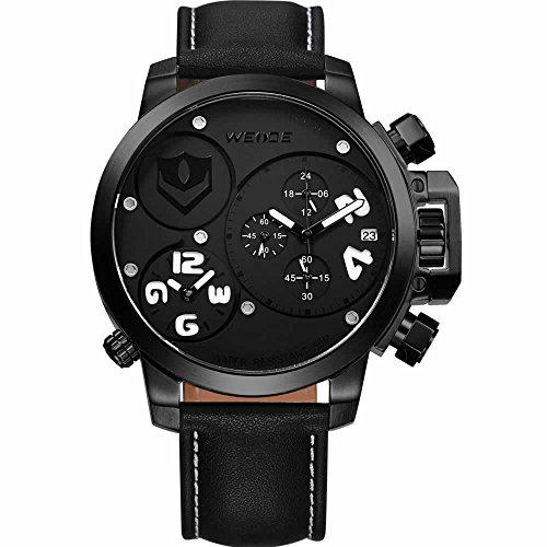 Autiga Designer Armbanduhr Edelstahl Sportuhr Uhr Quarzuhr Chronograph schwarz weiss