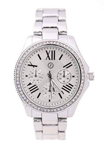 Armbanduhr Uhr Damen Watch Strass silber Larry Lamano Neu & OVP LL-100-05