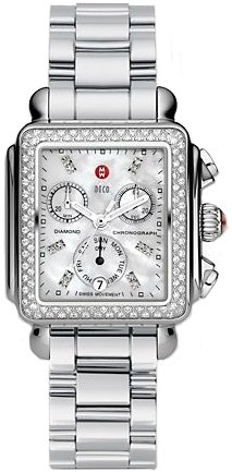 Michele Damen Armbanduhr Armband Edelstahl Gehaeuse Schweizer Quarz Zifferblatt Perlmutt MWW06P000110