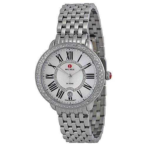 Michele Damen Armbanduhr Armband Edelstahl Gehaeuse Schweizer Quarz Zifferblatt Perlmutt MWW21B000030