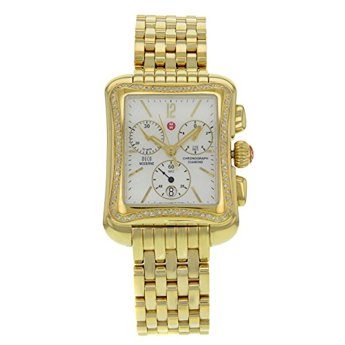 Michele Deco Moderne II Diamant Gold Watch