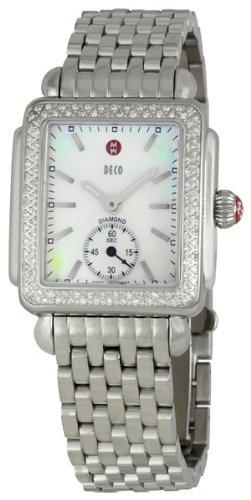 Michele Damen Diamant Deco Edelstahl Armbanduhr MWW06 V000001