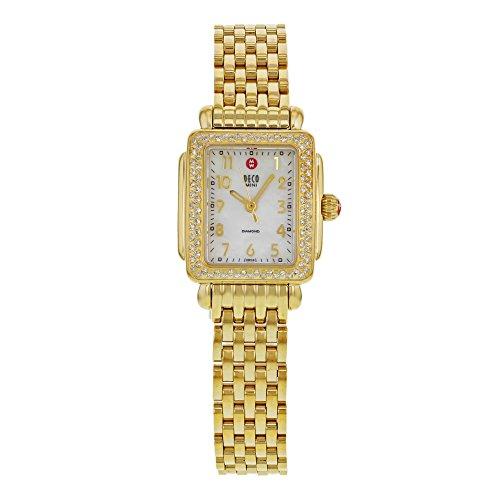 Michele Deco Mini Diamant Gold Tone mww06d000020 Armbanduhr Armbanduhr