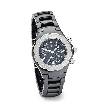 Michele Tahiti Schwarz Keramik Diamant Damen Armbanduhr MWW12 A000005 Armbanduhr Armbanduhr