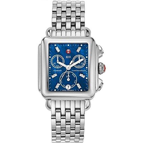 Michele Signature Deco Damen Armbanduhr Diamant Armband Edelstahl Gehaeuse Batterie Analog MWW06P000172
