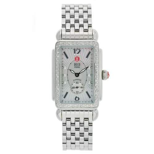 MICHELE DECO WOMENS DIAMONDS STAINLESS STEEL CASE UHR MWW06M000012