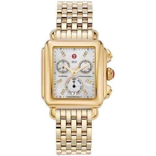 Michele Damen-Armbanduhr Analog edelstahl Gold MWW06P000016