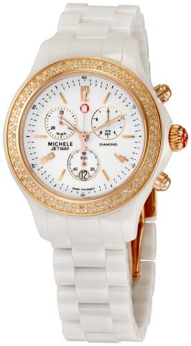 MICHELE JETWAY WOMENS CERAMIC CASE CHRONOGRAPH DATE UHR MWW17B000008