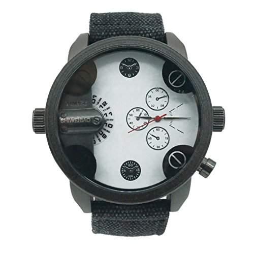 Smartstar A3130 Herren Fashion Vintage Modisch Dual Display Canvas Uhrenarmband Uhr