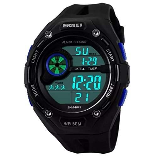 SKMEI Herren sportliches Design Multifunktions-LCD Digital Military Watch Alarm Outdoor Casual Armbanduhren - Blau