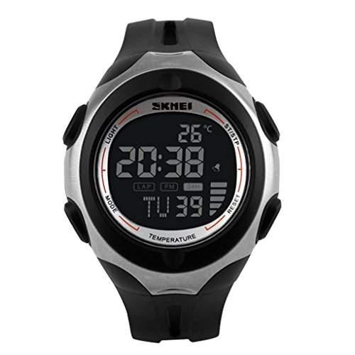 SKMEI Men Sport Multifunktions-Digital Temperatur Military Watch - Schwarz