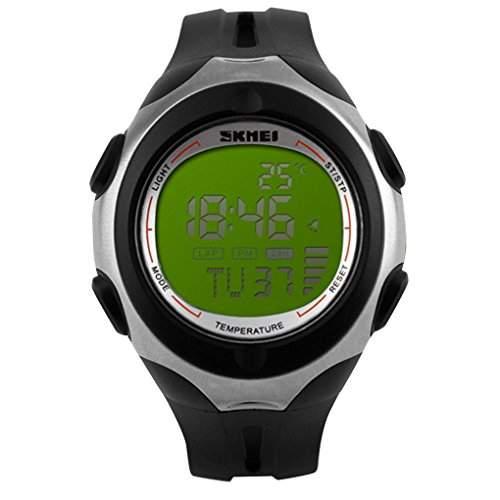 SKMEI Men Sport Multifunktions-Digital Temperatur Military Watch - Gruen