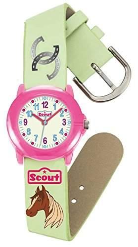 Scout Maedchen-Armbanduhr Analog Quarz Kunstleder 280305003