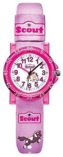 Scout Maedchen-Armbanduhr Analog Quarz Textil 280375000