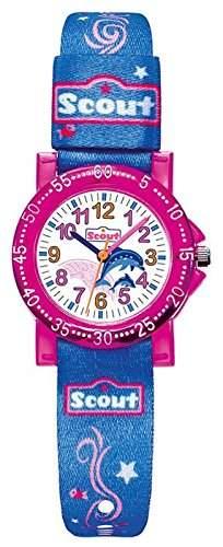 Scout Maedchen-Armbanduhr Analog Quarz Textil 280375001